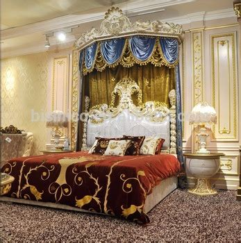 royal crown upholstery canopy bedroom set italian style