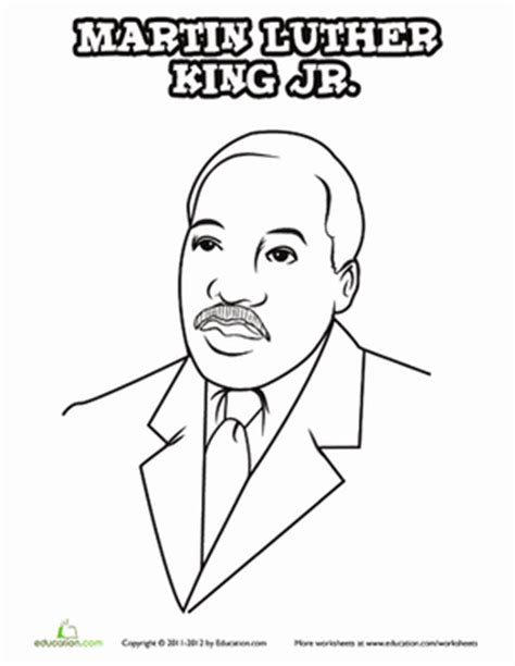 coloring pages dr martin luther king jr dr martin luther king jr worksheet education com