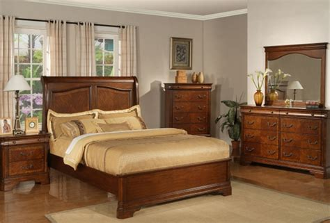 alexandria 6 piece bedroom set in autumn brown finish by