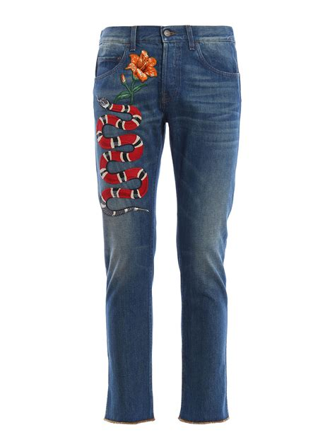 Embroidery Slim Fit gucci slim fit embroidered leg