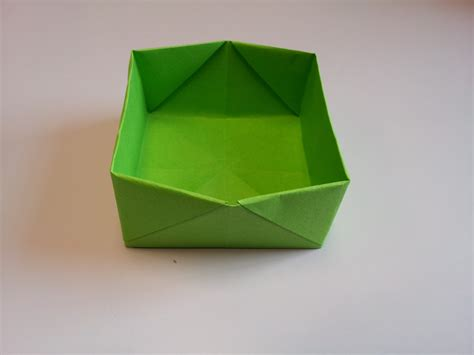How To Make An Origami Paper Box - paper moon how to make an origami box