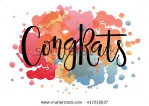 congratulations sign template sketched congrats text as badge and icon