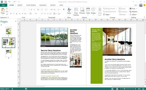 best of free microsoft publisher newsletter templates free cover