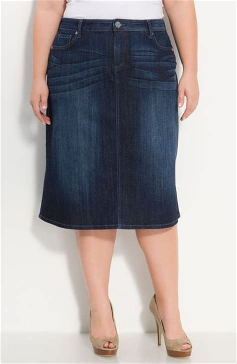 kut from the kloth denim skirt in blue invisible lyst