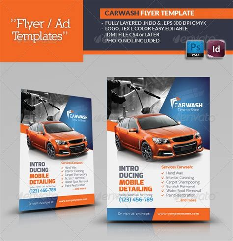 image gallery mobile car wash flyers