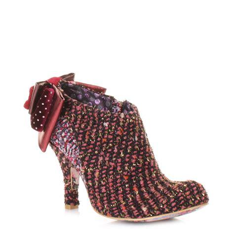 irregular choice baby pink black knit ankle