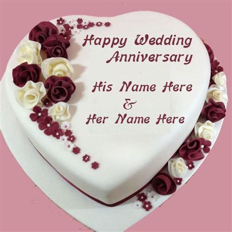 Happy Wedding Anniversary Cake Images With Name