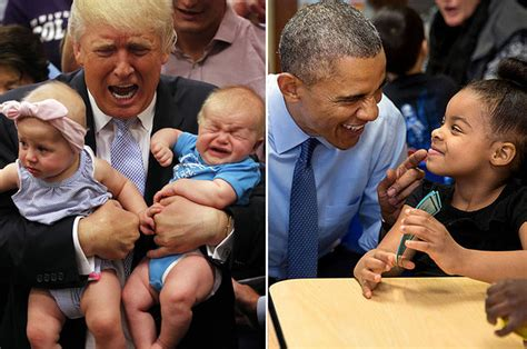 donald trump vs obama 21 pictures of donald trump with kids vs barack obama