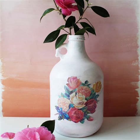 Decoupage Vase Ideas - using decoupage to beautify your empty bottles martha