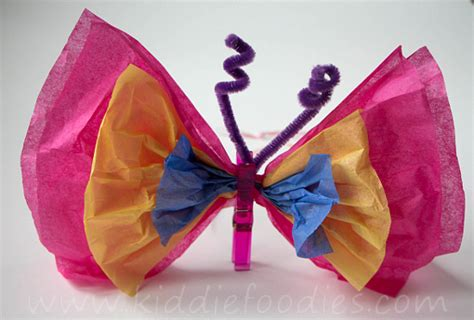 Paper Butterfly Craft - tissue paper butterfly diy craft ideas for kiddie