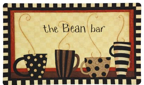 Coffee Kitchen Mat by Mohawk Home Kitchen Mat Coffee Bean Bar Transitional