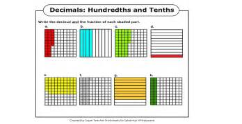 search results for hundredths and tenths worksheets