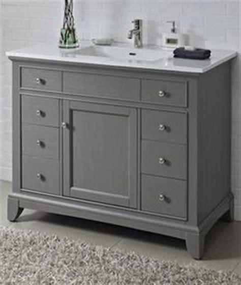 42 inch single sink bathroom vanity with marble top in