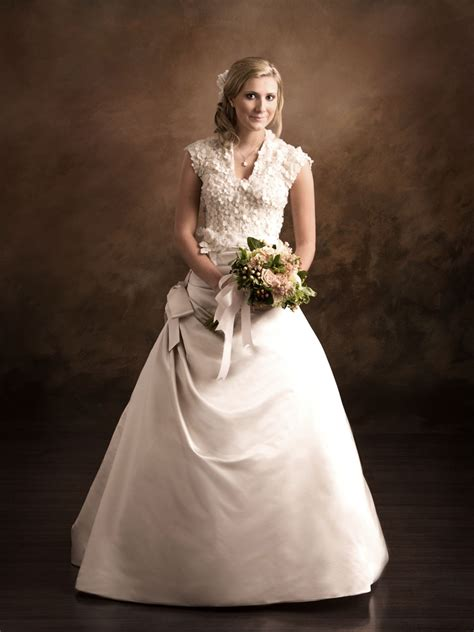 wedding dress textured modest wedding dress