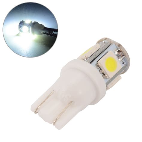 Led Light Bulb For Automotive Applications 20pcs Canbus T10 W5w 5050 5 Smd Car Auto Led Light Bulb