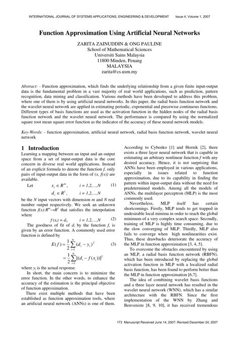 pattern classification techniques based on function approximation function approximation using artificial pdf download