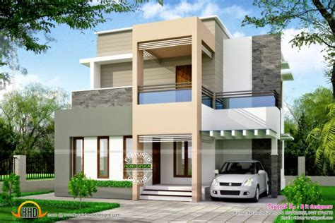 kerala home design box type home design clean box type house exterior kerala home