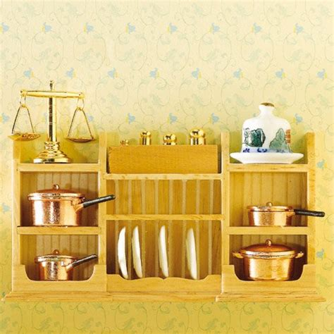 wall shelf with plate rack