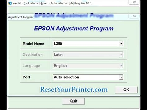 epson rx585 printer resetter adjustment program reset epson l395 epson l395 adjustment program youtube