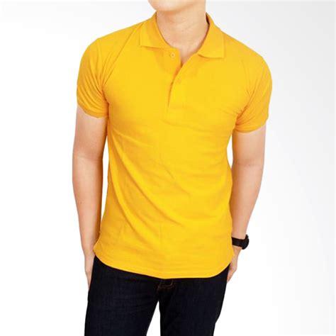 Kaos Unisex Polos Warna Terang Jual Gudang Fashion Kaos Polos Kerah Pol 58 Kuning Emas