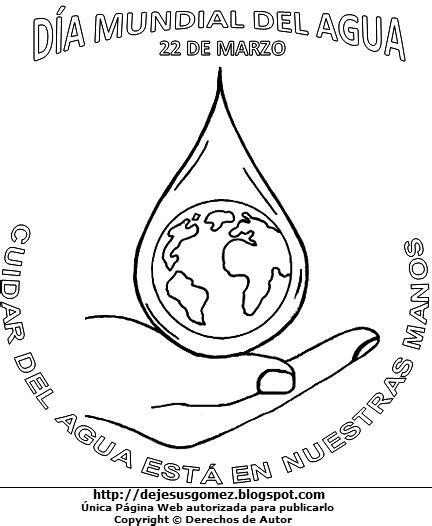 imagenes para pintar sobre el cuidado del agua dibujos fotos acrostico y mas dibujos por el dia mundial