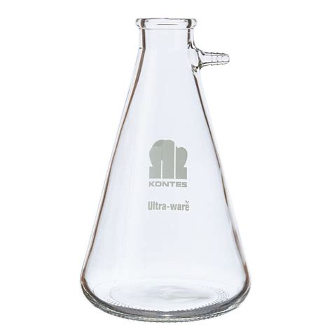 kimcote heavy wall safety coated glass filtering flask