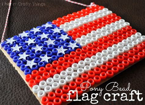 bead crafts pony bead flag craft i crafty things