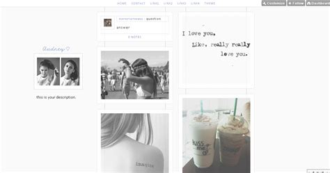 tumblr themes one column infinite scroll perfectic themes