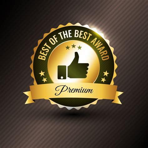 best award best award logo design vector premium
