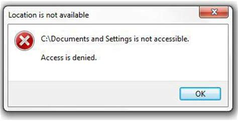 Windows 7 Documents And Settings Access Denied