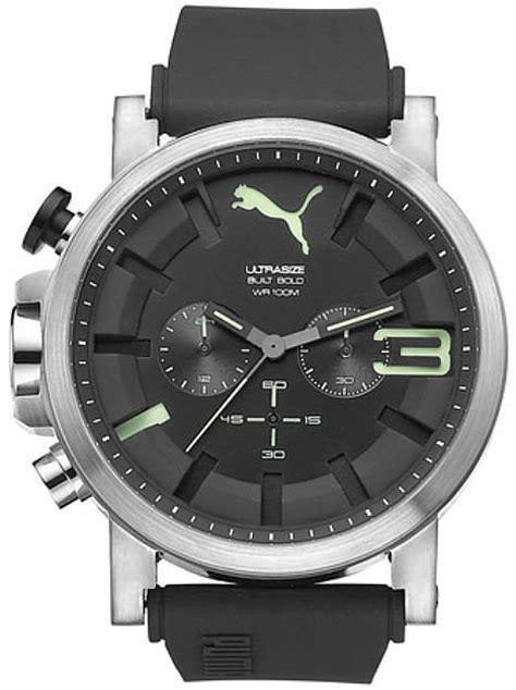 Mens Pu102941006 Ultrasize s ultrasize black and green silicone chronograph pu103981005
