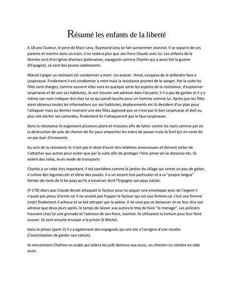 """Calaméo - Résumé détaillé """"Les enfants de la liberté"""" de"""