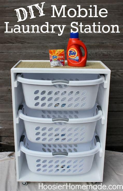 Diy Mobile Laundry Station Hoosier Homemade Diy Laundry