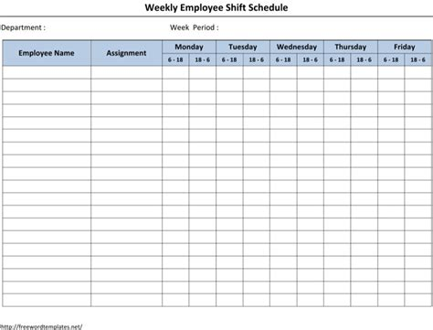 12 hour shift schedule template download free premium