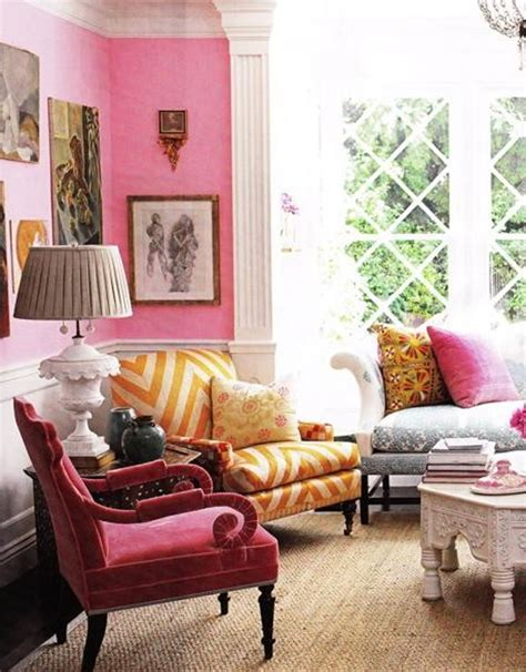 chic home interiors beautiful living room designs with pink style