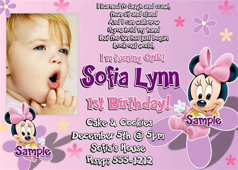 1st year birthday invitation templates 2 1st birthday invitation wording and ideas bagvania