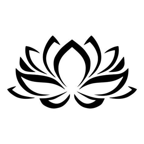 lotus tattoo zwart wit lotus bloem tribal muursticker raamsticker