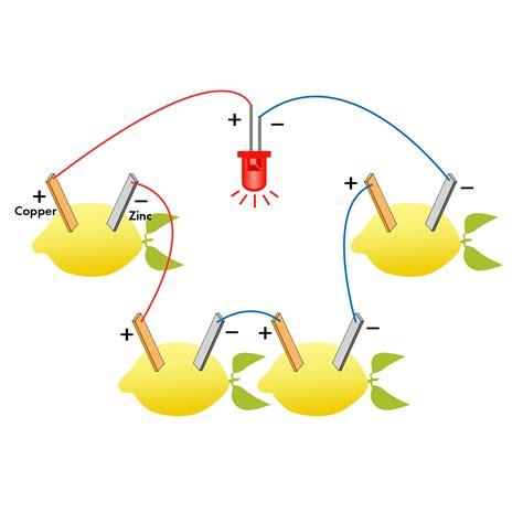 how to a lemon battery light a light bulb fruit battery light diode science kit orange potato lemon