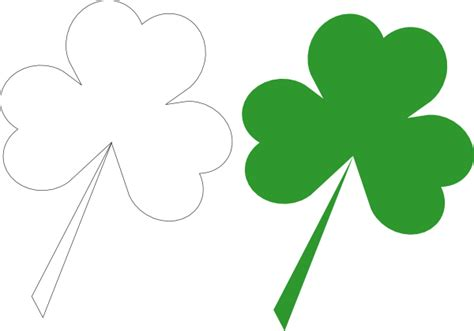 Shamrock Outline Clipart by Shamrock Outline And Silhouette Clip At Clker Vector Clip Royalty Free
