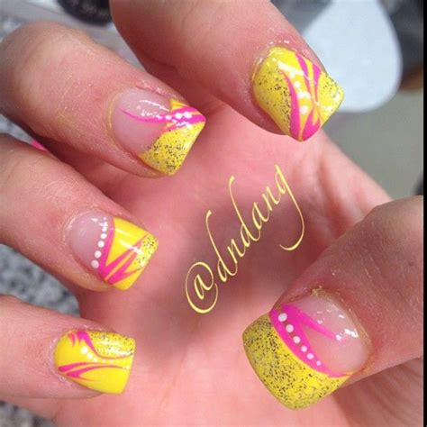 bright pattern nails 25 trending neon acrylic nails ideas on pinterest