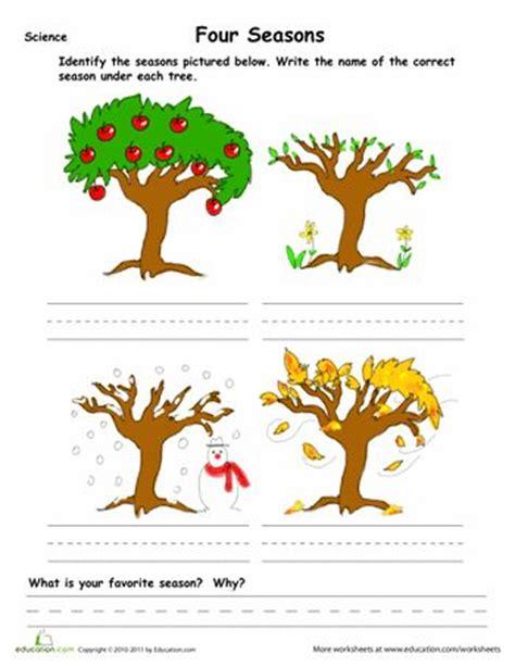 kindergarten activities on seasons 20 best learn four season images on pinterest seasons of