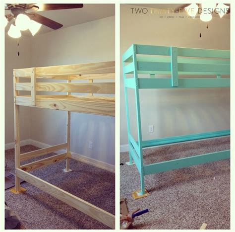 ikea loft bed hack ikea bunk bed hack two thirty five designs