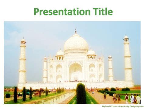 Free Heritage Powerpoint Templates Myfreeppt Com Ppt On Taj Mahal