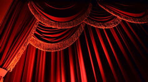 red drape curtain vector png images