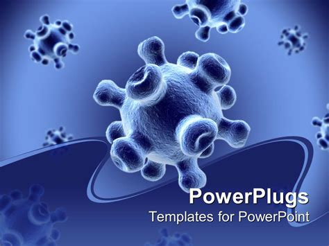 virus powerpoint template powerpoint template detailed 3d viruses spread on a blue