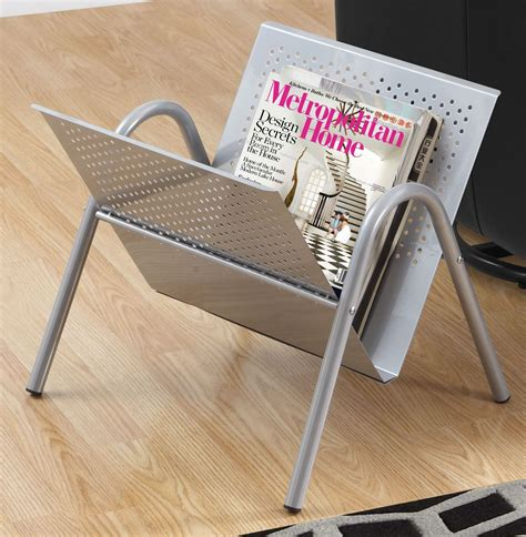 silver metal magazine rack 2041 monarch