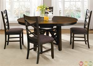 Oval Dining Table Sets Bistro Two Tone Oval Casual Dining Furniture Set