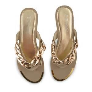 womens summer shoes womens gold chain wedge sandals flip flops toe post