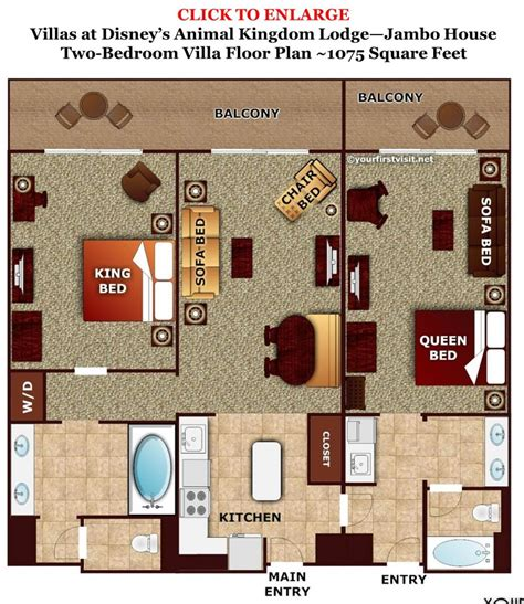 disney animal kingdom villas floor plan review disney s animal kingdom villas jambo house page 5