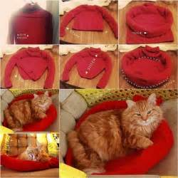 Is Your Bed Made Is Your Sweater On How To Diy Cozy Cat Bed From Old Sweater